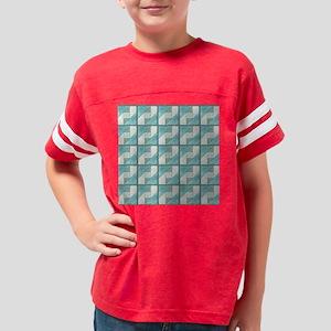 Attic Window Mint Green  Blue Youth Football Shirt