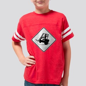 forklift-46 Youth Football Shirt