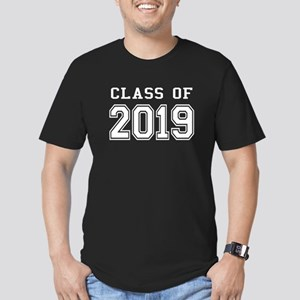 Class of 2019 (White) Men's Fitted T-Shirt (dark)