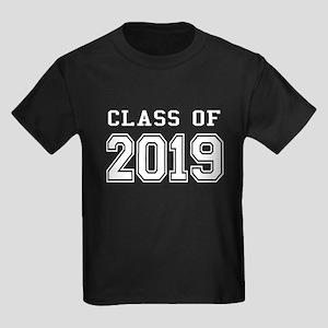 Class of 2019 (White) Kids Dark T-Shirt