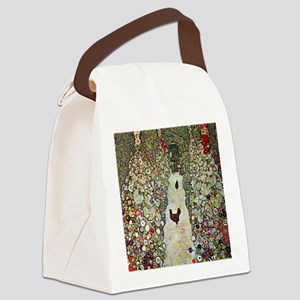 Garden Path with Chickens by Klim Canvas Lunch Bag
