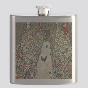 Garden Path with Chickens by Klimt Flask