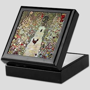 Garden Path with Chickens by Klimt Keepsake Box