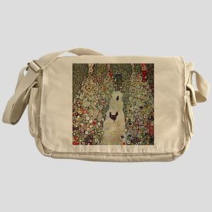 Garden Path with Chickens by Klimt Messenger Bag