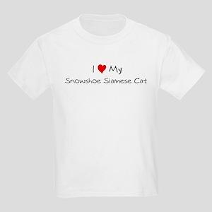 Love My Snowshoe Siamese Cat Kids T-Shirt