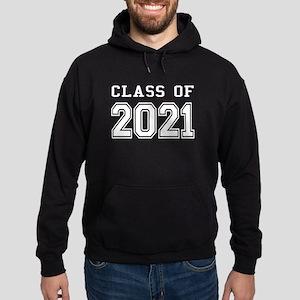 Class of 2021 (White) Hoodie (dark)
