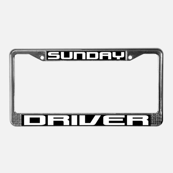 Sunday Driver License Plate Frame