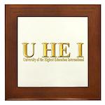 U HE I -Royal Gold Framed Tile