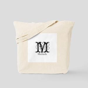 Michaela: Fancy Monogram Tote Bag
