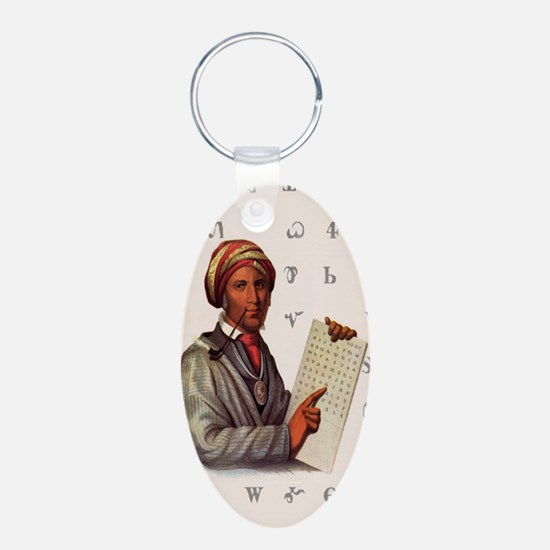 Sequoyah, The Cherokee Scholar Keychains