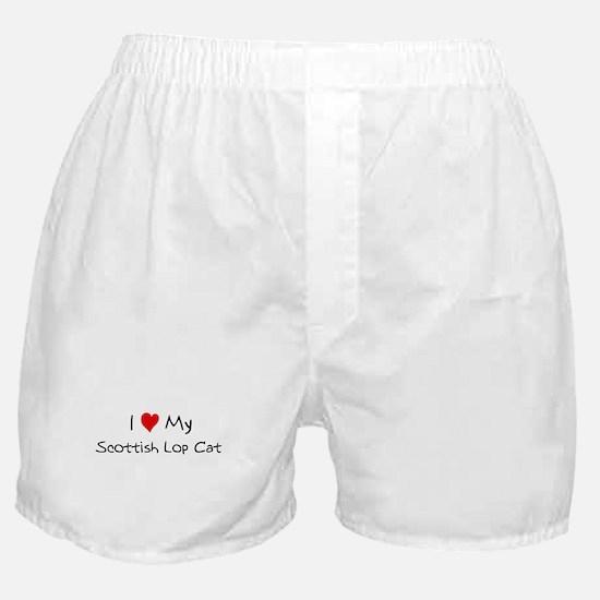Love My Scottish Lop Cat Boxer Shorts