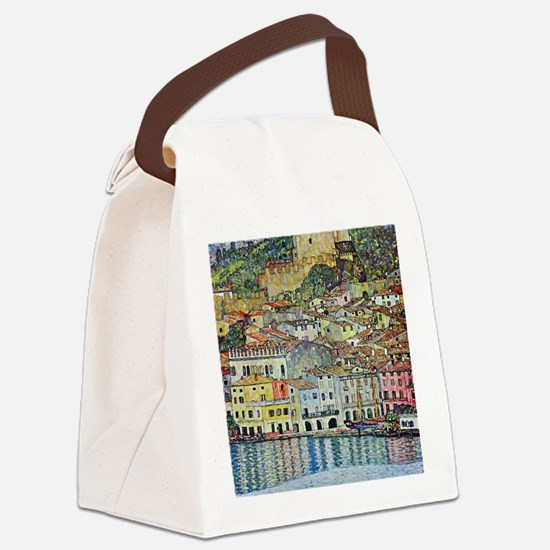Malcesine on Lake Garda by Gustav Canvas Lunch Bag