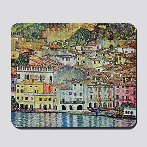 Malcesine on Lake Garda by Gustav Klimt Mousepad