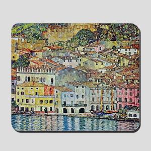 Malcesine on Lake Garda by Gustav Klimt Mousepad