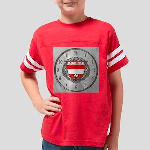 Austria Soccer Wall Clock Youth Football Shirt