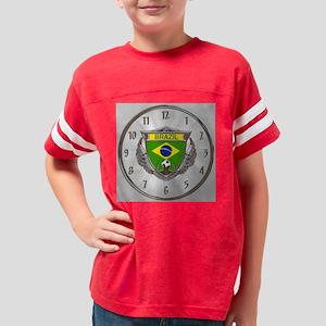 Brazil Soccer Wall Clock Youth Football Shirt