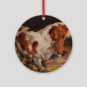Basset Hound Round Ornament