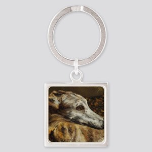 Greyhound Square Keychain
