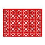 Red Owls 5'x7'Area Rug