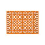 Orange Owls 5'x7'Area Rug