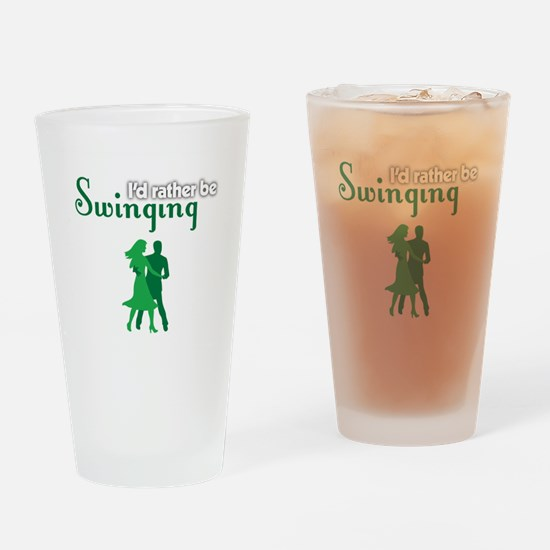 I'd Rather Be Swinging Drinking Glass