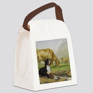 Greater Swiss Mountain Dog and Br Canvas Lunch Bag