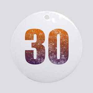Cool 30th Birthday Ornament (Round)