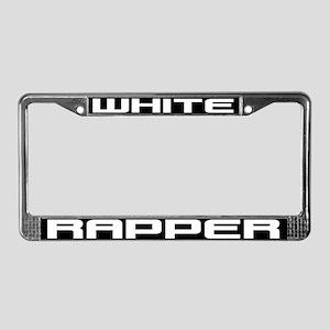 White Rapper License Plate Frame