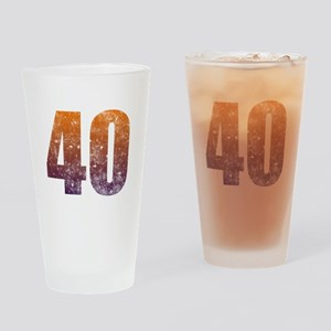 Cool 40th Birthday Drinking Glass