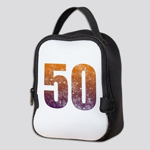 Cool 50th Birthday Neoprene Lunch Bag