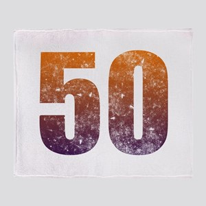 Cool 50th Birthday Throw Blanket