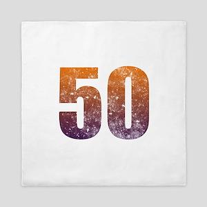 Cool 50th Birthday Queen Duvet