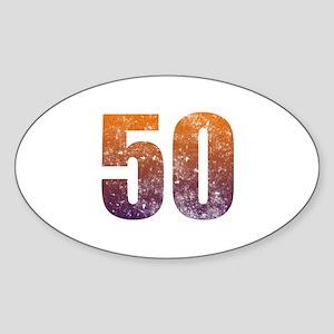 Cool 50th Birthday Sticker (Oval)