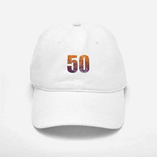 Cool 50th Birthday Baseball Baseball Cap
