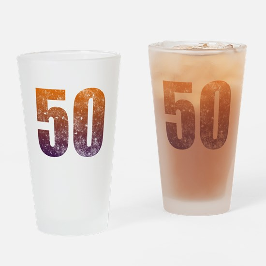 Cool 50th Birthday Drinking Glass