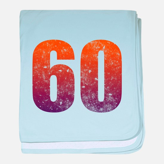 Cool 60th Birthday baby blanket