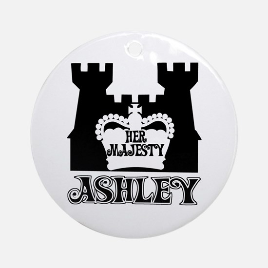 Her Majesty Ashley Ornament (Round)