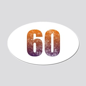 Cool 60th Birthday 20x12 Oval Wall Decal