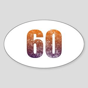 Cool 60th Birthday Sticker (Oval)