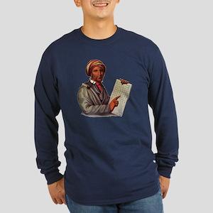 Sequoyah, The Cherokee Scholar Long Sleeve T-Shirt