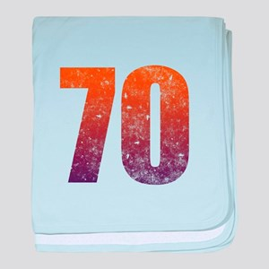 Cool 70th Birthday baby blanket