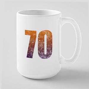 Cool 70th Birthday Large Mug