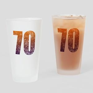 Cool 70th Birthday Drinking Glass