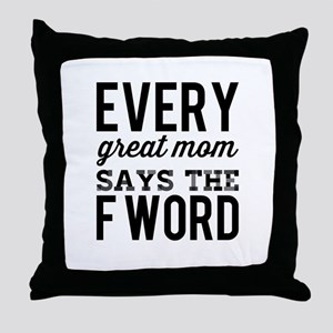 GreatMoms Throw Pillow