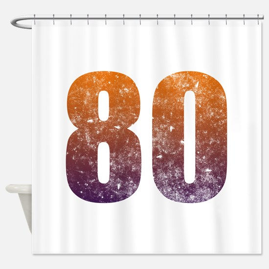 Cool 80th Birthday Shower Curtain