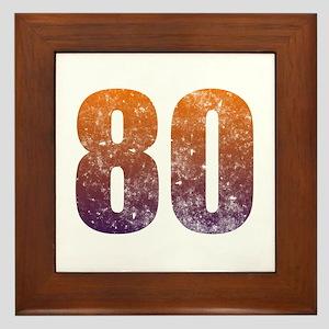 Cool 80th Birthday Framed Tile