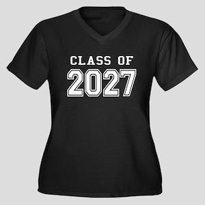 Class of 2027 (White) Women's Plus Size V-Neck Dar