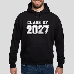 Class of 2027 (White) Hoodie (dark)