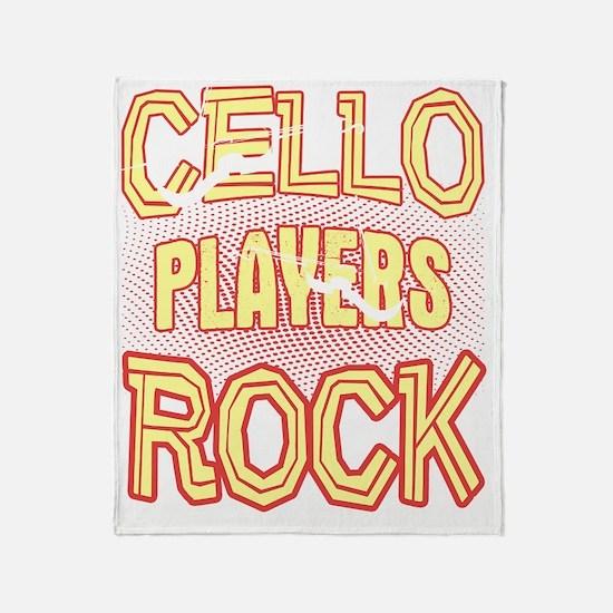 Funny Cello Throw Blanket
