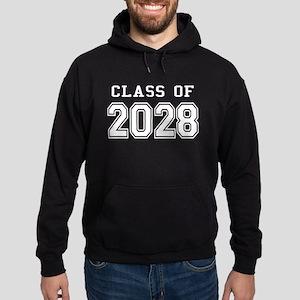Class of 2028 (White) Hoodie (dark)
